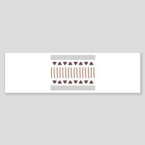 Tribal Border Pattern Bumper Sticker