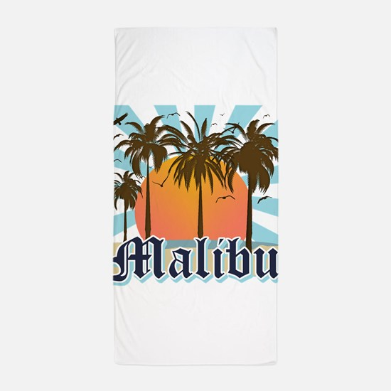 Malibu California Beach Towel