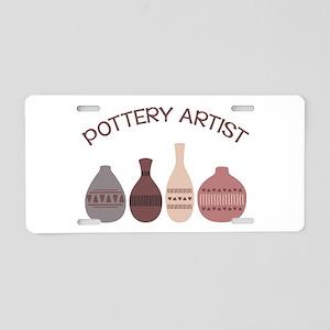 Pottery Artist Vases Aluminum License Plate