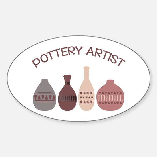 Pottery Artist Vases Decal