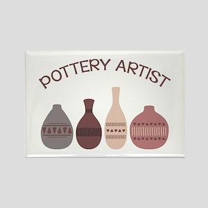 Pottery Artist Vases Magnets