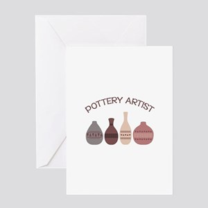 Pottery Artist Vases Greeting Cards