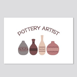 Pottery Artist Vases Postcards (Package of 8)