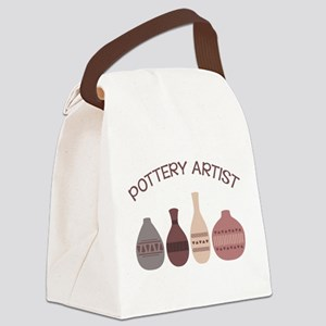 Pottery Artist Vases Canvas Lunch Bag