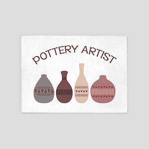 Pottery Artist Vases 5'x7'Area Rug