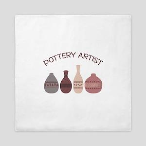 Pottery Artist Vases Queen Duvet