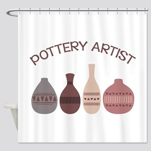 Pottery Artist Vases Shower Curtain
