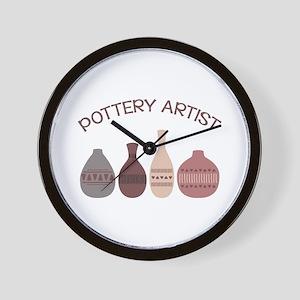 Pottery Artist Vases Wall Clock