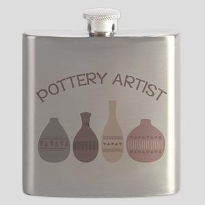 Pottery Artist Vases Flask