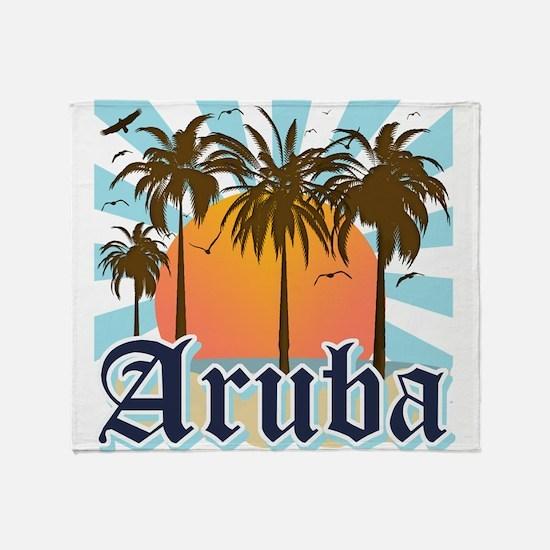 Aruba Caribbean Island Throw Blanket