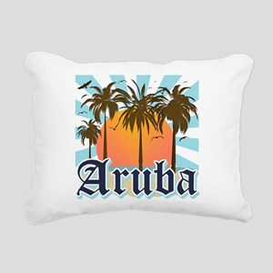 Aruba Caribbean Island Rectangular Canvas Pillow