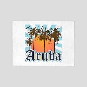 Aruba Caribbean Island 5'x7'Area Rug