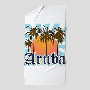 Aruba Caribbean Island Beach Towel