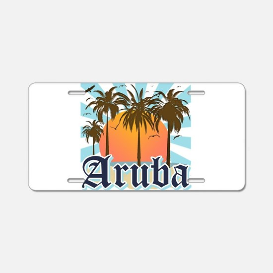 Aruba Caribbean Island Aluminum License Plate