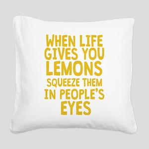Antisocial Lemons Square Canvas Pillow