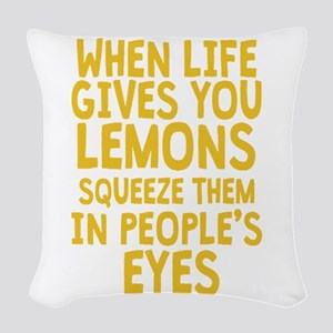 Antisocial Lemons Woven Throw Pillow