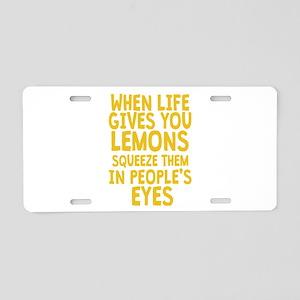 Antisocial Lemons Aluminum License Plate