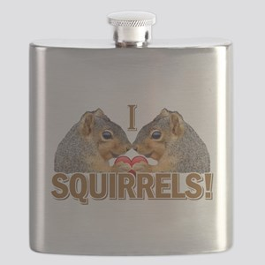I Love Squirrels Flask