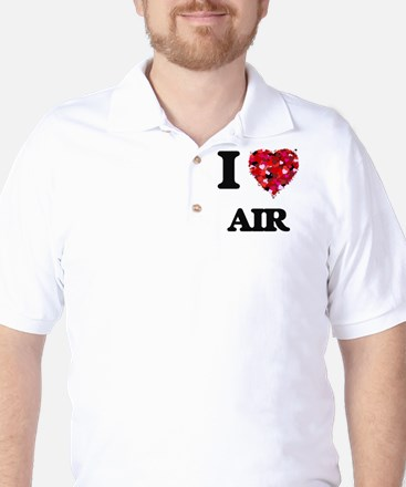 I Love Air Golf Shirt