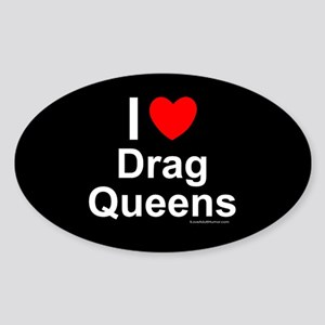 Drag Queens Sticker (Oval)
