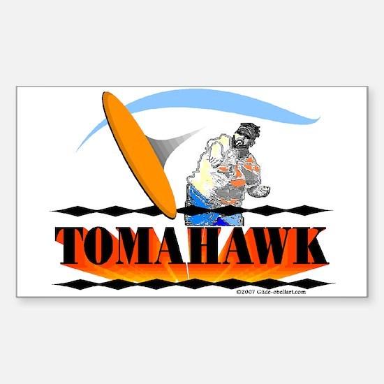 TOMAHAWK Rectangle Decal