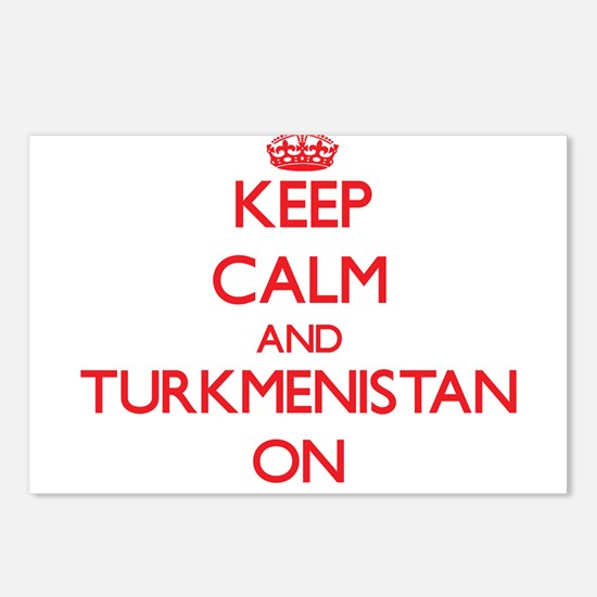 Keep calm and Turkmenista Postcards (Package of 8)