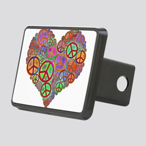 Peace Sign Heart Rectangular Hitch Cover