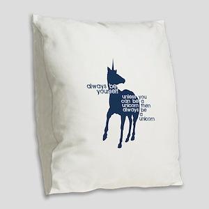 Unicorns Burlap Throw Pillow