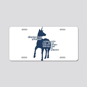 Unicorns Aluminum License Plate