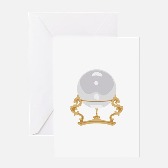 Crystal Ball Psychic Reading Greeting Cards