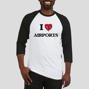 I Love Airports Baseball Jersey