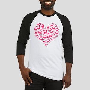 Horse Heart Pink Baseball Jersey
