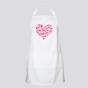 Horse Heart Pink Apron