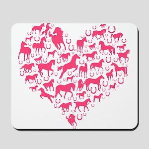 Horse Heart Pink Mousepad