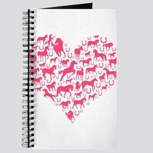 Horse Heart Pink Journal