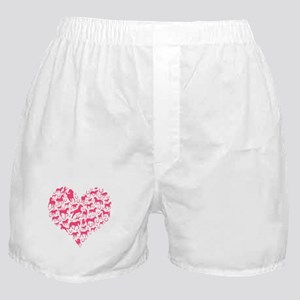 Horse Heart Pink Boxer Shorts