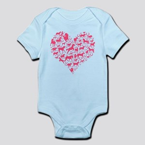 Horse Heart Pink Body Suit