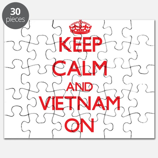 Keep calm and Vietnam ON Puzzle