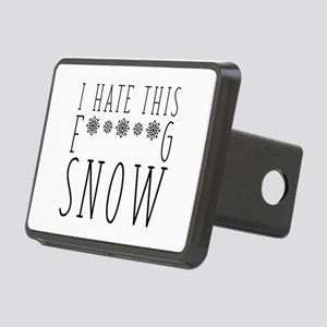 I Hate Snow Rectangular Hitch Cover