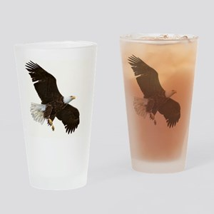 Amazing Bald Eagle Drinking Glass