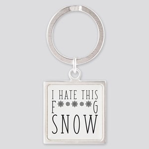 I Hate Snow Square Keychain