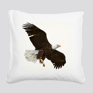 Amazing Bald Eagle Square Canvas Pillow