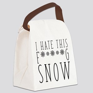 I Hate Snow Canvas Lunch Bag