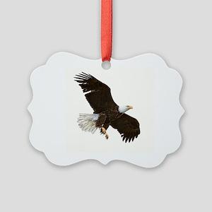 Amazing Bald Eagle Picture Ornament