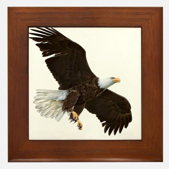 Amazing Bald Eagle Framed Tile