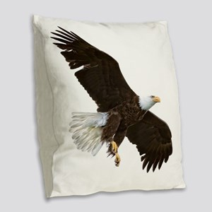 Amazing Bald Eagle Burlap Throw Pillow