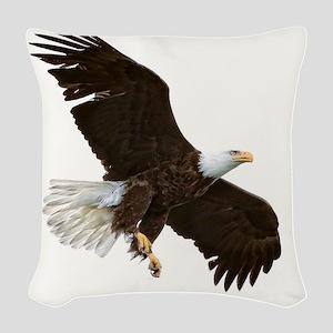 Amazing Bald Eagle Woven Throw Pillow