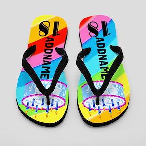Colorful 18th Flip Flops