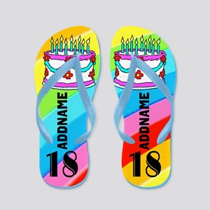 Festive 18th Flip Flops