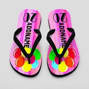 Festive 20th Flip Flops